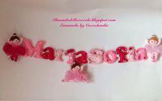 Banner per MariaSofia ❤️❤️❤️ in feltro, pannolenci, tessuto, handmade.  Realizzato interamente a mano senza l'ausilio di macchina da cucire.