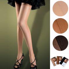 Womens Pantyhose Sheer Nylon Stockings Lot 3Pcs - Black, One Size
