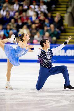 Madeline Aaron & Max Settlage (USA) - 2014 Skate Canada SP © Danielle Earl