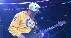 The Red Hot Chili Peppers' bassist and Lakers' superfan delivered a unique version of the National Anthem prior to Kobe Bryant's last game.