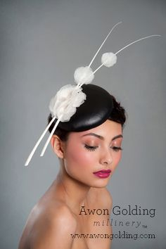 Leather disc - Awon Golding Millinery  www.awongolding.com    #hats #millinery