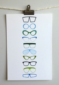 eyeglasses print -