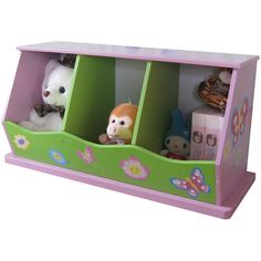 Liberty House Toys Fairy 3-Bin Storage Unit
