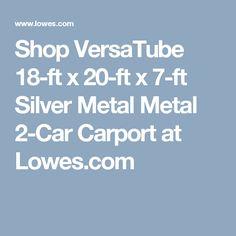 Metal carport do it yourself metal carport kit carport myron do it yourself metal carport kit see more shop versatube 18 ft x 20 ft x 7 ft silver metal metal solutioingenieria Choice Image