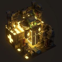 """""""Amazing renders of one of my scenes, in Unity, with GI made by Stunning work man! Cube World, Isometric Art, 3d Home, Art Et Illustration, Game Concept, Environment Concept Art, Environmental Art, Cinema 4d, Game Design"""