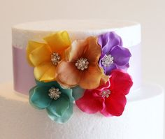 #Spring #Wedding #Cake #Decorations #Cake by GlamourWed on Etsy