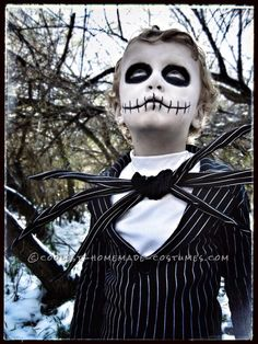 Amazing Jack Skellington Costume for a Boy... Coolest Homemade Costumes