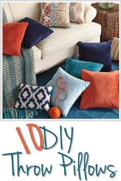 10 DIY Throw Pillows
