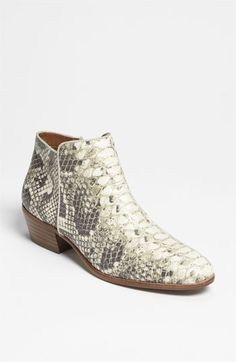 These are starting to grow on me...rolled up jeans and a sheer ivory blouse...hmmm  Sam Edelman 'Petty' Bootie | Nordstrom