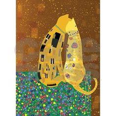 Quoted from: art_nouveau: Klimt-Cat; Gustav Klimt, Klimt Art, Oeuvre D'art, Love Art, Cat Art, Art History, Art Nouveau, Modern Art, Art Projects