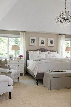 Looking for that perfect grey paint colour? Refresh your bedroom decor with one of these trendy neutrals. Try a beautiful Sherwin Williams shade like Amazing Gray or Repose Gray in your space this year. #decor #home #paint #paintcolour #designideas #design #interiordesign #sherwinwilliams #bedroom #bedroomideas #bedroomdesign