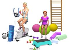 Sims 4 CC's - The Best: Gym and Sports Equipment by Sandy Around The Sims 4 | I wonder if any of this sort of stuff is functional?