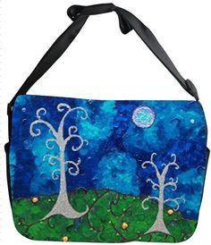 Whimsical Trees Canvas Safari Style Messenger Bag by SalvadorKitti, $45.00
