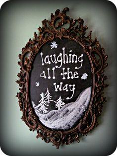 laughing abi Christmas entry chalkboard. laughingabi.com