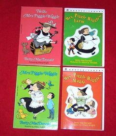 4 Mrs. Piggle-Wiggle Chapter Books~Betty MacDonald~RL 5 AR Ages 7-11 Homeschool