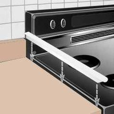 Fills gap between counter and stove or dishwasher -- Prevents food or liquids from falling between counter and appliance $14.95. Not having to move out the stove to clean.... Priceless!