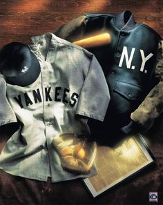 New York Yankees vintage collage  #vintage #art #collage  www.kingsofsports.com