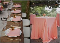 Inspired by Ashley's Vintage Peach Wedding - Inspired By This