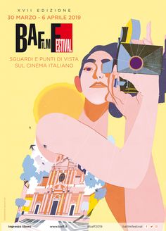 Vintage Graphic Design Poster for the edition of BA Film Festival , cultural events and points of view on Italian cinema. Vintage Graphic Design, Graphic Design Posters, Graphic Design Illustration, Graphic Design Inspiration, Poster Festival, Film Festival, Kids Poster, Poster S, Protest Posters