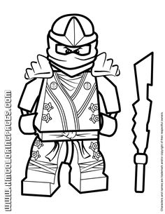 Ninjago coloring pages for kids printable free Lego party