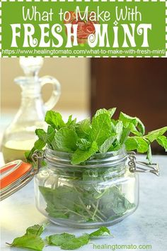 The best way to preserve fresh mint and the best recipes to make using fresh mint Mint Recipes, Pea Recipes, Easy Pasta Recipes, Vegetable Recipes, Real Food Recipes, Healthy Recipes, Savoury Recipes, Food Tips, Summer Recipes