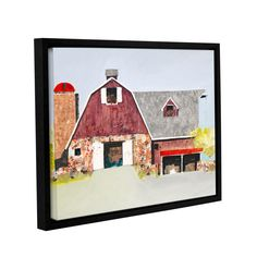 Anthony Grant Barn No. 2 Framed Painting Print on Wrapped Canvas