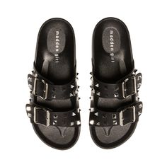 Steve Madden Store, Style Matters, Comfortable Sandals, Kid Shoes, Women's Shoes, Black Media, Latest Fashion Trends, Studs
