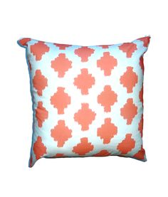 Coral Ikat Pillow Cover