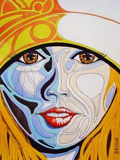 "Saatchi Online Artist: Kyle Brock; Acrylic 2013 Painting ""Little Surfer Girl"""
