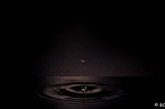 Dark Water Drop | Drop in the Dark | Benacobb Photography
