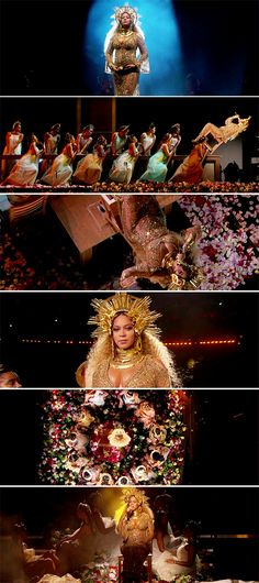 Beyonce Performs 'Love Drought' and 'Sandcastles' at the 2017 Grammys
