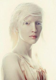 Breathtaking. I got a thing for albinos. Model Nastya Zhidkova