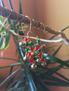 Bell Seed Bead Gold over Sterling Silver Earrings by BeadingSista