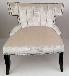 Luxurious ivory velvet chair