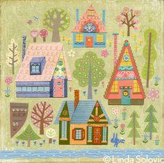 Home Season Home Wall Art by Linda Solovic, via Behance