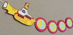 Yellow Submarine Beatles Inspired Party Banner by CelebrationBee