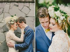 Kind of in love with her crazy hair - Glam Garden Party Wedding: Emily + Ed – Part 2