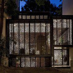 Laser cut house facade