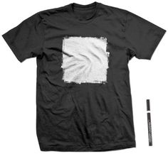 The simplicity of this shirt is what makes it nice #black #silver #square