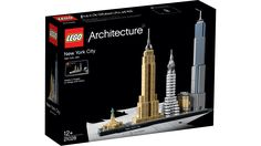 Lego New York City Architecture - Recreate the NYC skyline, bring together the iconic Flatiron Building, Chrysler Building, Empire State Building, One World Trade Center and the Statue of Liberty Flatiron Building, Chrysler Building, Skyline Von New York, Nyc Skyline, Empire State Building, One World Trade Center, Model Building Kits, Building Toys, Model Kits