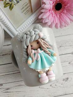 Polymer Clay Disney, Cute Polymer Clay, Cute Clay, Polymer Clay Flowers, Diy Clay, Handmade Polymer Clay, Clay Crafts, Polymer Clay Ornaments, Polymer Clay Christmas