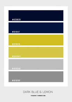 dark blue and lemon yellow color combo, navy blue and yellow lemon color scheme, navy blue and yellow color scheme, grey and yellow color palette, grey navy blue and yellow color combination