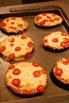 Goal of Losing: Mini Eggplant Pizzas; Low Calorie!