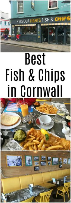 Best fish & Chips in Cornwall - Harbour Lights restaurant review #LoveFalmouth #LoveCornwall