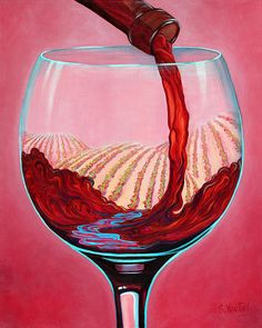 ...and Let There Be Wine Painting by Sandi Whetzel - ...and Let There Be Wine Fine Art Prints and Posters for Sale