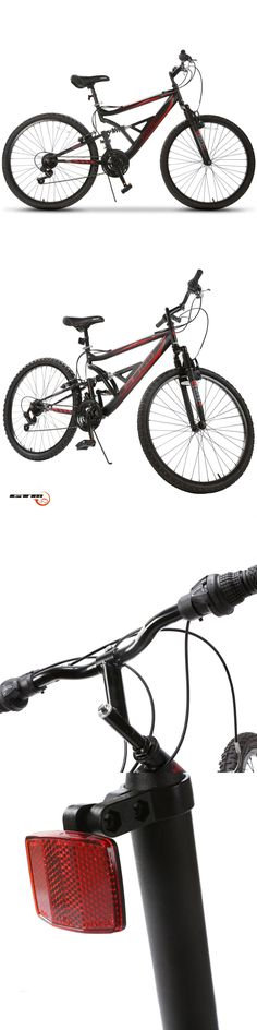 Bicycles 177831: Mountain Bike 26 18 Speed Bicycle Full Suspension Aluminum Frame Sports Marroon -> BUY IT NOW ONLY: $108.9 on eBay!