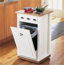 Small kitchen island for bin storage. 22 Space Saving Kitchen Storage Ideas to Get Organized in Small Kitchens Decor, Small Kitchen Storage Solutions, Rolling Kitchen Island, Space Saving Kitchen, Kitchen Island Design, Kitchen Roll, Diy Kitchen, Home Decor, Small Kitchen Island