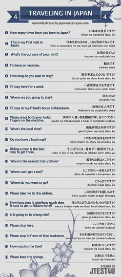 Infographic: Japanese phrases for traveling part 4. http://japanesetest4you.com/infographic-japanese-phrases-for-traveling-part-4/