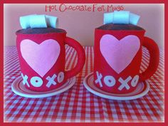 Valentines Hot Chocolate with Marshmallows by buttercreamforest, $16.00