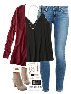 """""""I ❤️ U 2⃣ THE & """" by kaley-ii ❤ liked on Polyvore featuring Paige Denim, Abercrombie & Fitch, American Eagle Outfitters, Kendra Scott, Stila, Giles & Brother, Valerie Nahmani Designs, Michael Kors, NARS Cosmetics and Vintage"""